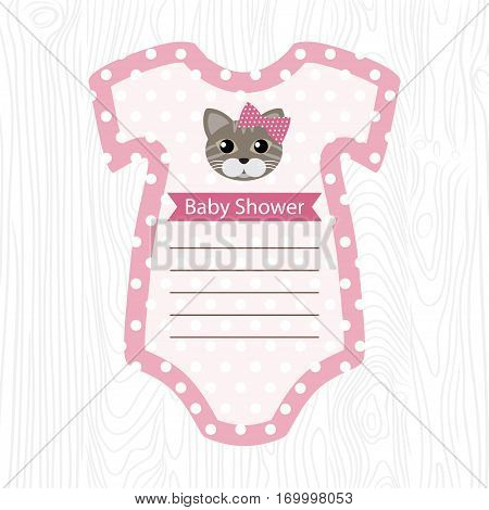 Vector Illustration Of A Pink Onesie For Baby Shower