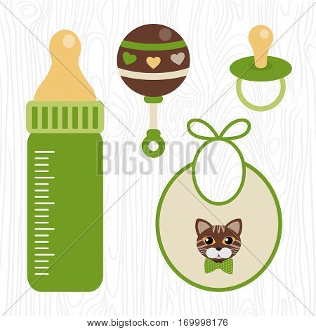 Vector Unisex Baby Shower Set Of Design Elements