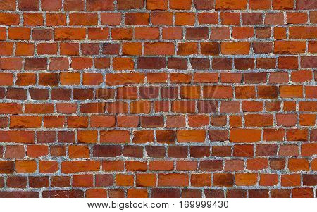 masonry bricks with cement uneven stripes red background wallpaper