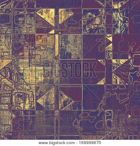 Geometric colorful grunge background, tinted vintage style texture. With different color patterns: yellow (beige); brown; gray; purple (violet); pink