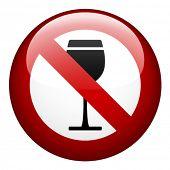 vector no alcohol mark poster