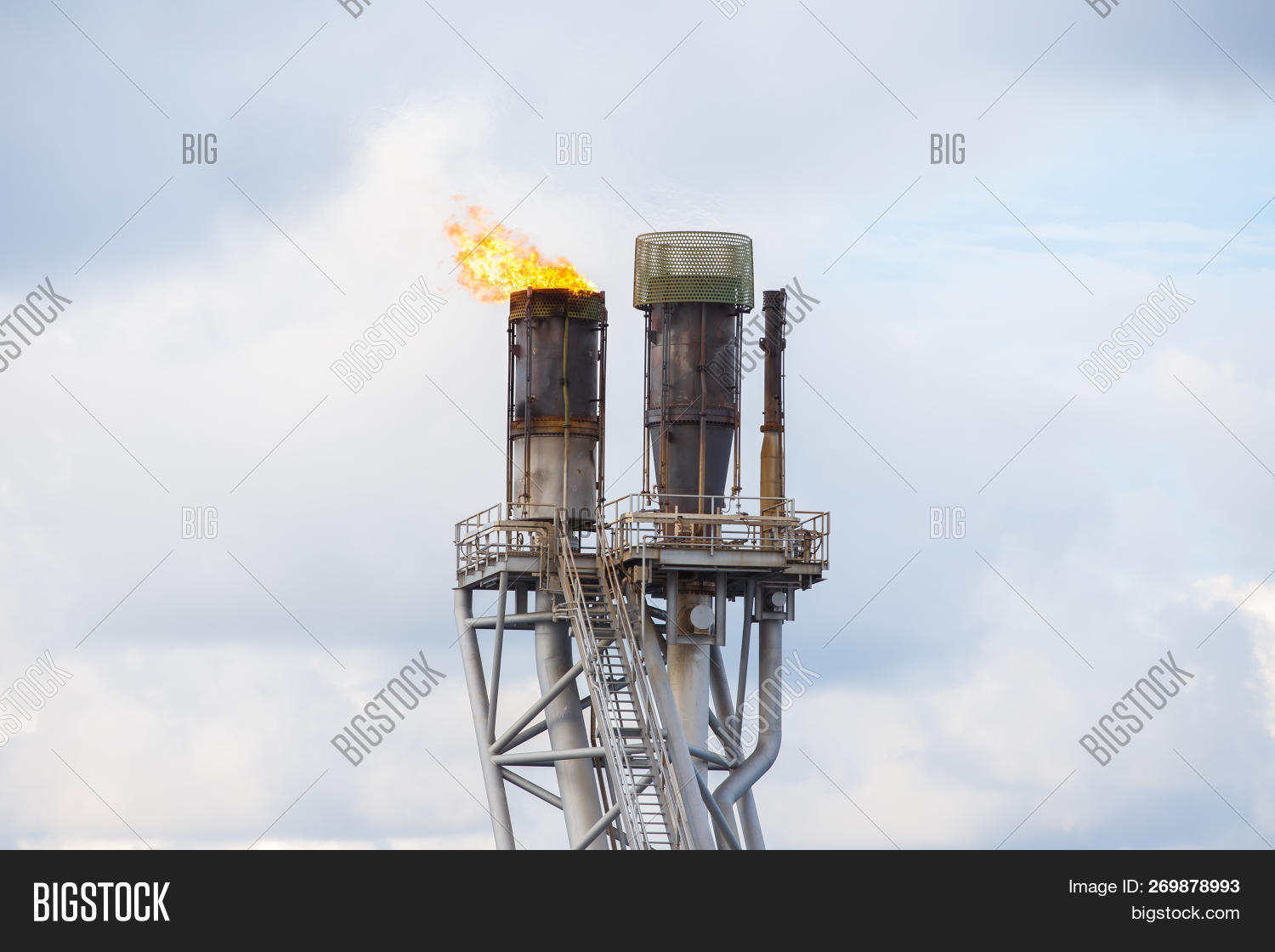 Flare Stack Oil Gas Image & Photo (Free Trial) | Bigstock