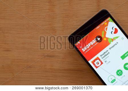 Bekasi, West Java, Indonesia. November 16, 2018 : Shopback - Shopping & Cashback Dev App On Smartpho