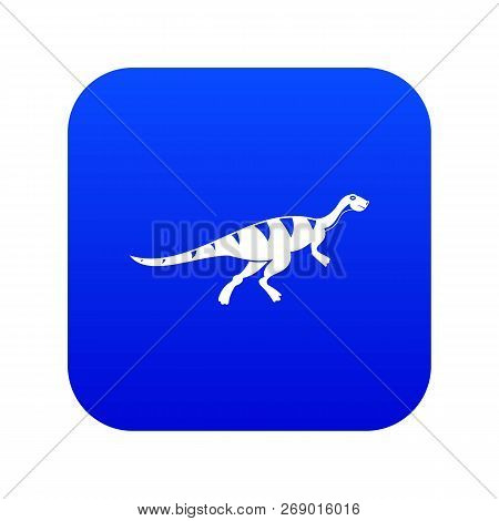 Gallimimus Dinosaur Icon Digital Blue For Any Design Isolated On White Vector Illustration