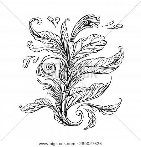 Hand-drawn Abstract Floral With Ethnic Ornaments Doodle Pattern. Vector Illustration Henna Mandala Z