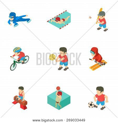 Prep Icons Set. Isometric Set Of 9 Prep Vector Icons For Web Isolated On White Background