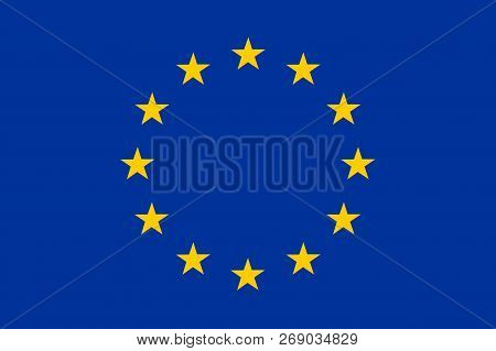 National Flag Of Europe. Background  With Flag Of Europe.