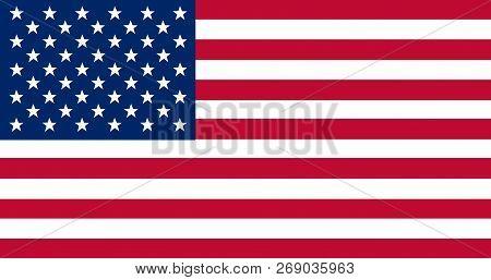 National Flag Of United States Of America. Usa. Background  With Flag Of - United States Of America.