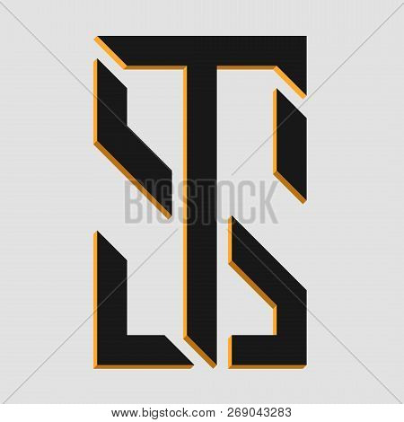 Monogram Letters St Vector Photo Free Trial Bigstock