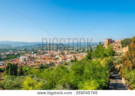 View At The Lower Town Of Certaldo In Italian Tuscany