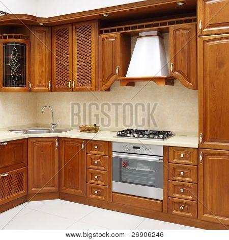 The new kitchen room, modern design