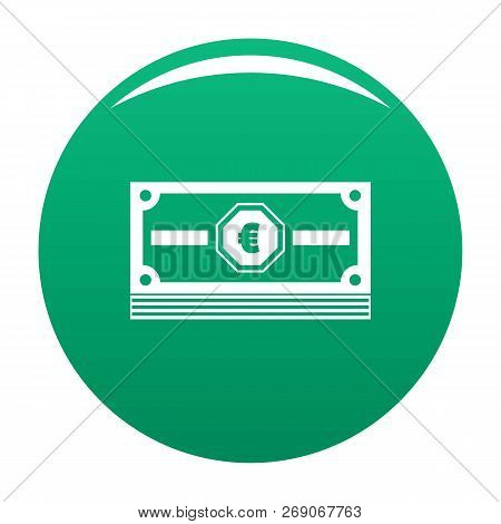 Cash Money Icon. Simple Illustration Of Cash Money Vector Icon For Any Design Green
