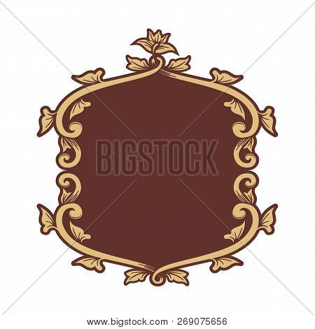 Gold Floral Ornament Pattern Frame, Border Ornament Pattern Frame, Engraving Ornament Pattern Frame,