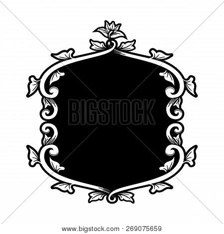 Floral Ornament Pattern Frame, Border Ornament Pattern Frame, Engraving Ornament Pattern Frame, Orna