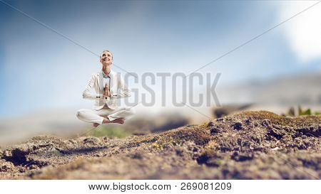 Spiritual stength and balance. Mixed media