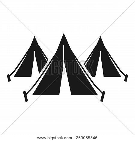 Refugee People Tent Camp Icon. Simple Illustration Of Refugee People Tent Camp Vector Icon For Web D