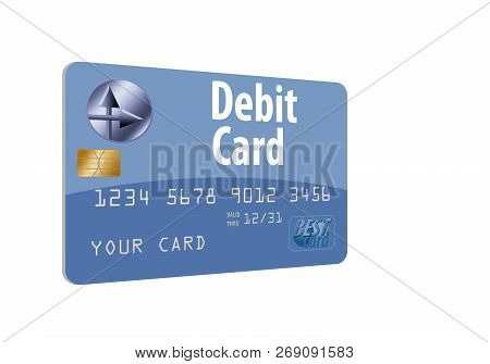 Here Is A Generic Mock Debit Card Isolated On The Background.