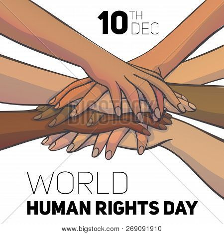 World Human Rights Day Concept Background. Cartoon Illustration Of World Human Rights Day Vector Con