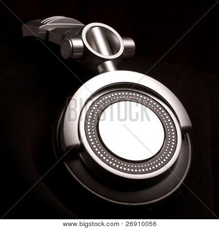 dj headphones on black