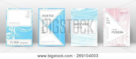 Cover Page Design Template. Stylish Brochure Layout. Captivating Trendy Abstract Cover Page. Pink An