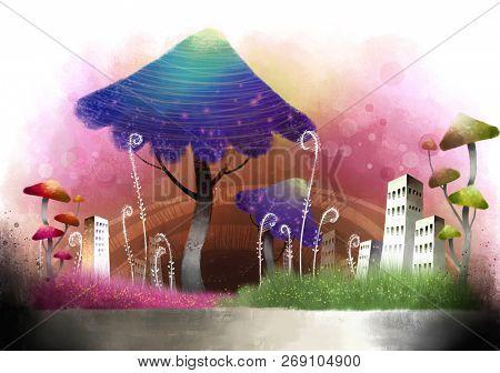 Building Exterior in monsoon season