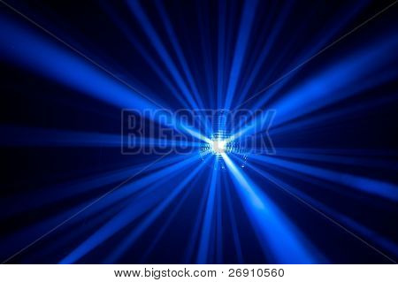 Disco ball with rays in haze