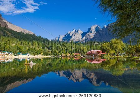 Lower Kachura Lake, Also Known As Shangrila Lake Is Located In Kachura Village 20 Minutes From Skard