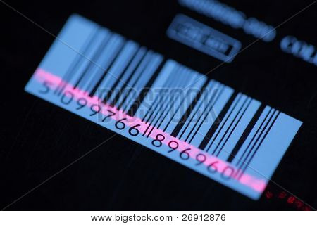 barcode with red laser strip