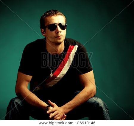 cool guy wearing sunglasses