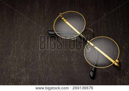 Golden Magnifier On A Dark Background.. Story, Lawyer, Storybook,