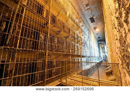 Mansfield, Oh, May 29, 2018, Ohio State Reformatory, Former Prison, Looking At Multiple Stories Of P