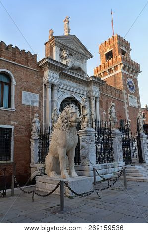 Entrance Of The Arsenal In Venice, Italy.