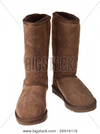 high boots isolated