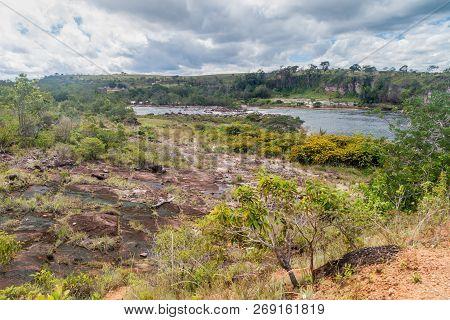 Yuruani River In Gran Sabana Region In National Park Canaima, Venezuela.