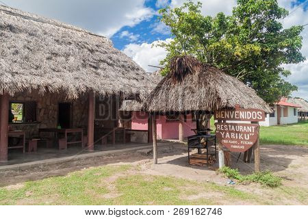 Gran Sabana, Venezuela - August 13, 2015: Rural Restaurant In An Indigenous Village In Gran Sabana R