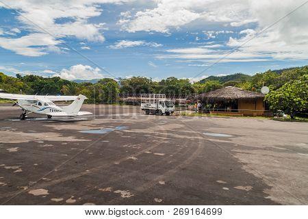 Canaima, Venezuela - August 16, 2015: View Of An Airstrip In Canaima Village, Venezuela