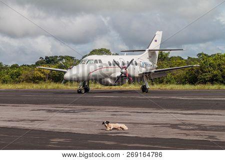 Canaima, Venezuela - August 16, 2015:  Bae-3212 Jetstream Super 31 At The Airstrip In Canaima Villag