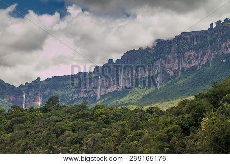 Tepui Table Mountain Auyan In National Park Canaima, Venezuela.