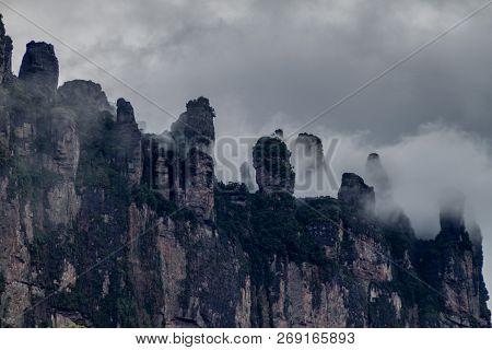Tepui Table Mountain Auyan In National Park Canaima, Venezuela