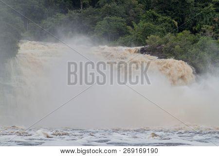 Canaima Lagoon Waterfalls At River Carrao In Venezuela