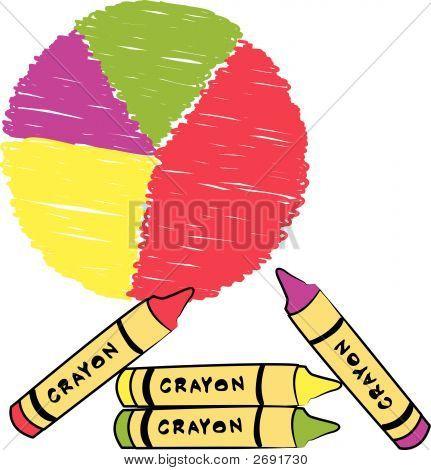 Circle Graph W Crayon Scribble 2.Eps