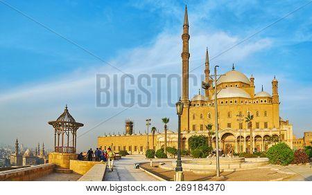 Cairo, Egypt - December 21, 2017: Saladin Citadel Is The Most Popular Landmark Of Islamic Cairo, Tha
