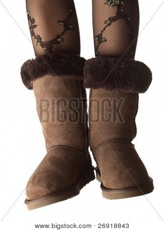 winter shoes isolated