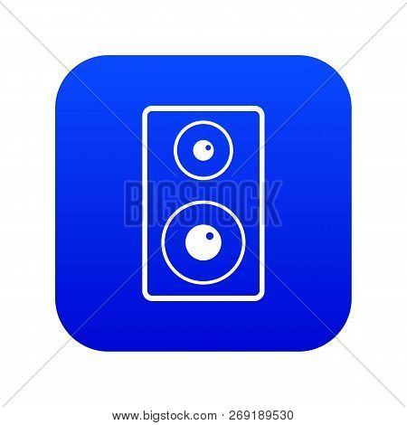 Subwoofer Icon Digital Blue For Any Design Isolated On White Vector Illustration