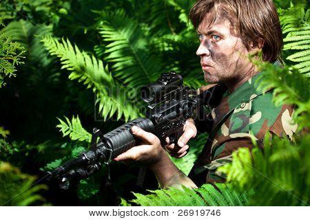 strikeball shooter holding a gun
