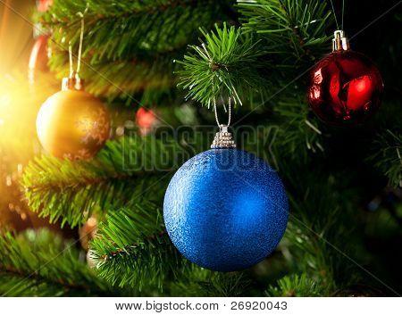 Christmas decoration with shiny glare