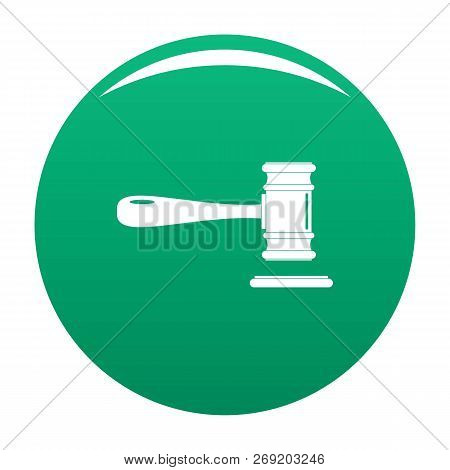 Court Icon. Simple Illustration Of Court Vector Icon For Any Design Green