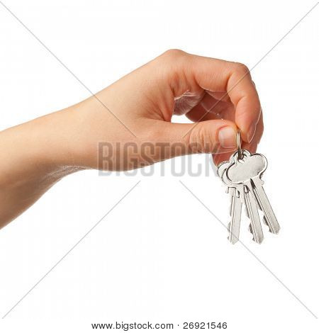 hand holding bunch of keys poster