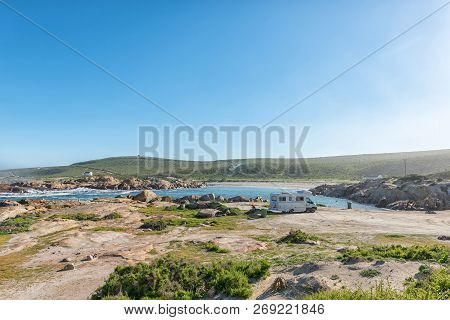 Paternoster, South Africa, August 21, 2018: A View Of Tietiesbaai Caravan Park In The Cape Columbine