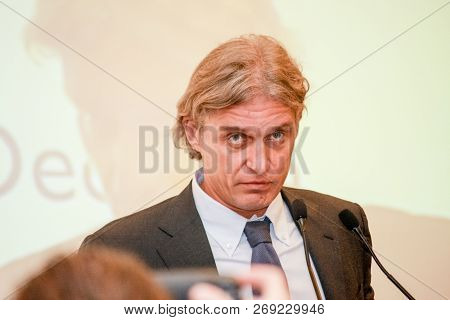 Moscow, Russia - November 8, 2010: Founder And Chairman Of The Tinkoff Bank Board Of Directors Oleg
